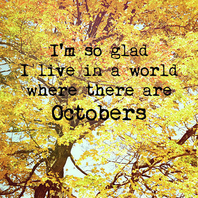 Photograph - Autumn Love Song Quote by Jamart Photography