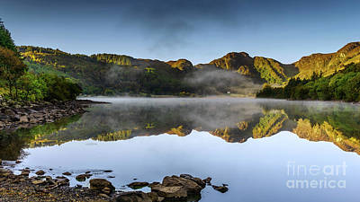 Photograph - Autumn Mist Crafnant Lake by Adrian Evans