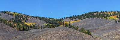 Photograph - Autumn Moon Setting Panoramic View by James BO Insogna