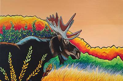 Painting - Autumn Moose by Sonja Jones