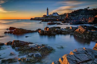 Photograph - Autumn Morning At Portland Head Lighthouse  by Rick Berk