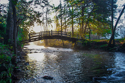 Photograph - Autumn Morning - Bow Bridge - Valley Forge by Bill Cannon