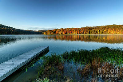 Photograph - Autumn Morning By The Dock by Thomas R Fletcher