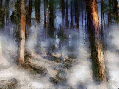 Digital Art - Autumn Morning Fog by Gun Legler