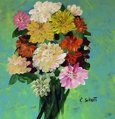 Painting - Autumn Mums by Christina Schott