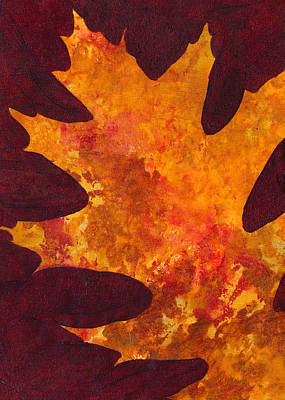 Painting - Autumn Oak 6 by Mary Elizabeth Thompson