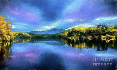 Painting - Autumn On Price Lake Ap by Dan Carmichael