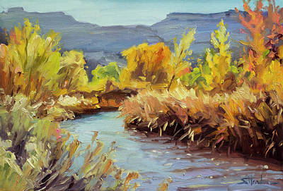 Royalty-Free and Rights-Managed Images - Autumn on the Fremont River  by Steve Henderson