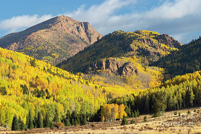 Steven Krull Royalty-Free and Rights-Managed Images - Autumn on the South Face of Pikes Peak by Steven Krull