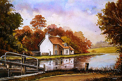 Modern Sophistication Beaches And Waves - Autumn on the Staffordshire and Worcestershire Canal by Andrew Read
