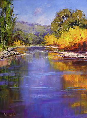 Target Threshold Painterly - Autumn on the Tumut River by Graham Gercken
