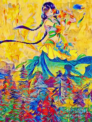 Mixed Media - Autumn - Painted Poetry by Olga Hamilton