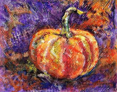 Mixed Media - Autumn Pumpkin by Betty Turner
