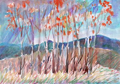 Painting - Autumn Rain by Irina Dobrotsvet