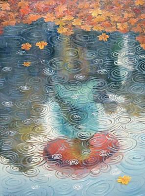 Wall Art - Painting - Autumn Rain by Oleg Riabchuk