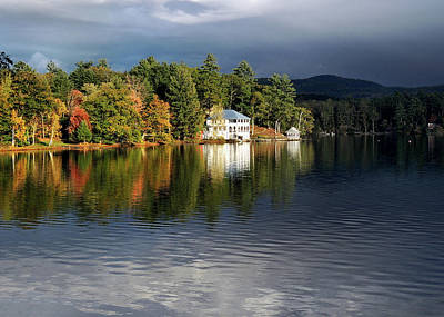 Photograph - Autumn Reflection Lake Morey Vermont by Nancy Griswold