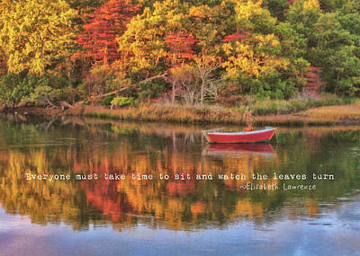 Photograph - Autumn Reflection Quote by JAMART Photography