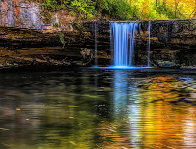 Photograph - Autumn Reflections At Ludlow Falls by Dan Sproul