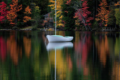 Photograph - Autumn Reflections by Darylann Leonard Photography