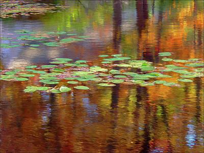 Wall Art - Digital Art - Autumn Reflections IIi by Ron Morecraft