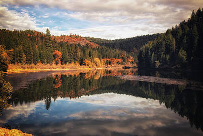 Photograph - Autumn Reflections On Pit Four by Marnie Patchett