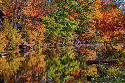Photograph - Autumn Reflections On The Chocorua River by Jeff Folger