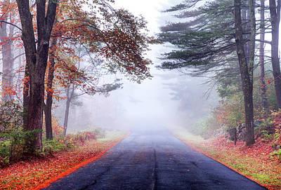 Photograph - Autumn Road In The Quabbin Reservoir by Denistangneyjr