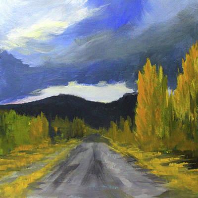 Painting - Autumn Road Trip by Nancy Merkle