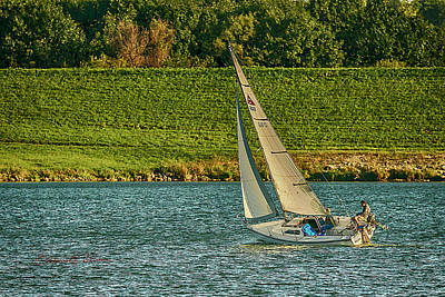 Photograph - Autumn Sailing by Edward Peterson
