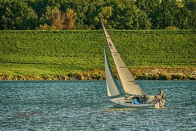 Photograph - Autumn Sailing by Edward Peterson