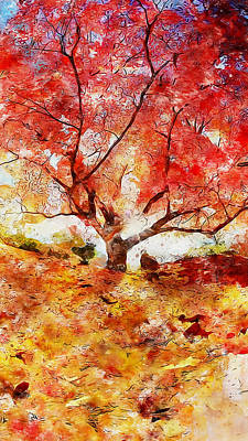 Painting - Autumn Shine by Andrea Mazzocchetti