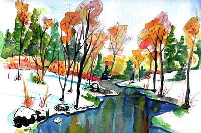 Painting - Autumn Snow by Terry Banderas