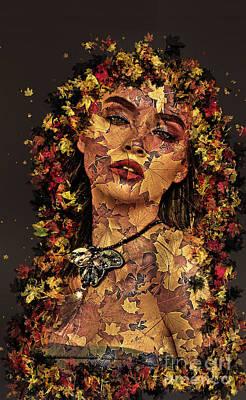 Digital Art - Autumn Spirit by Kathy Kelly
