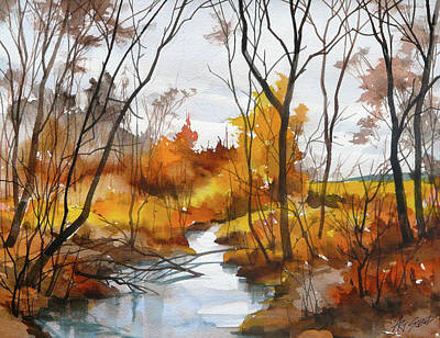 Painting - Autumn Stream by Art Scholz