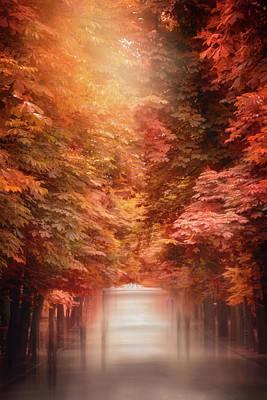 Impressionism Photos - Autumn Stroll Retiro Park Madrid  by Carol Japp