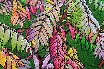 Painting - Autumn Sumac by Lynn Hansen