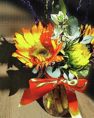 Photograph - Autumn Sunflowers  by Irina Sztukowski