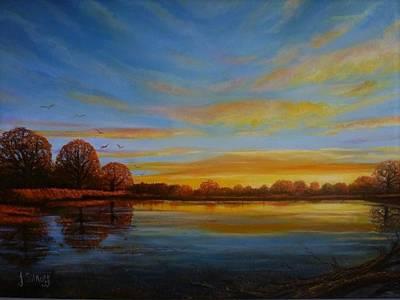 Autumn Sunrise. Art Print by Janet Silkoff