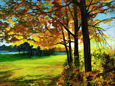 Painting - Autumn Sunrise by Lynn Hansen