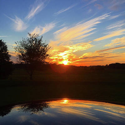Photograph - Autumn Sunset by Matthew Seufer