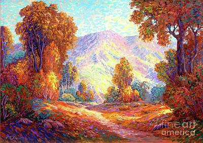 Mountain Paintings - Autumn Sunshine by Jane Small