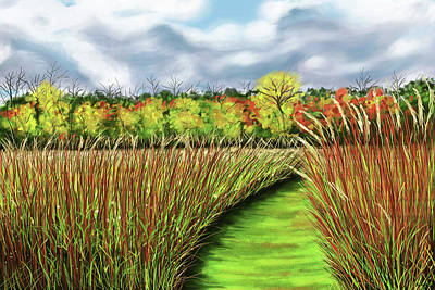 Painting - Autumn Trail At Old Woman Creek by Shawna Rowe