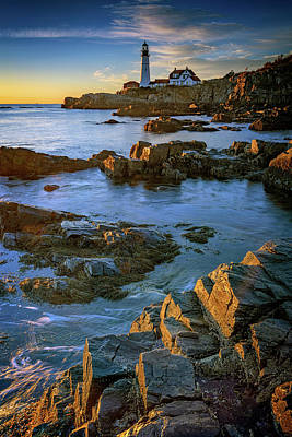 Photograph - Autumn Tranquility At Portland Head by Rick Berk