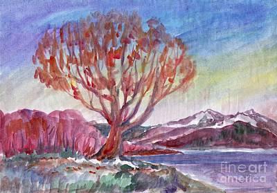 Painting - Autumn Tree By The River by Irina Dobrotsvet