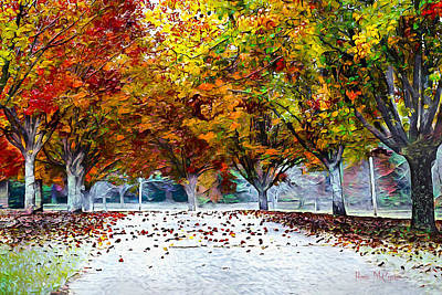 Digital Art - Autumn Trees by Pennie McCracken
