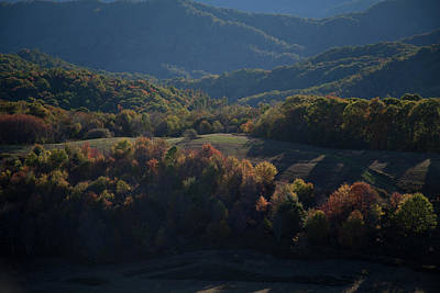 Photograph - Autumn Trees Smoky Mountains by David Chasey