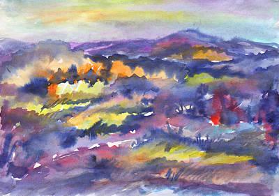 Painting - Autumn Valley by Dobrotsvet Art