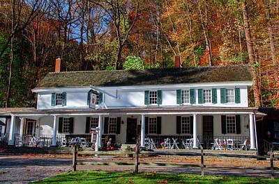 Photograph - Autumn - Valley Green Inn - Philadelphia Pennsylvania by Bill Cannon