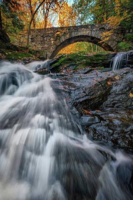 Photograph - Autumn Waterfall In Hallowell by Rick Berk