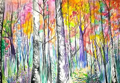 Painting - Autumn Woods by Lisa Bunsey